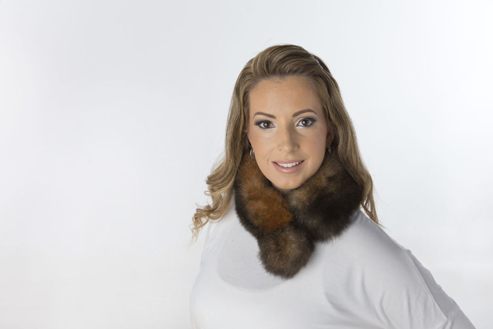 Picture of Fur Scarf - Pom Pom Style