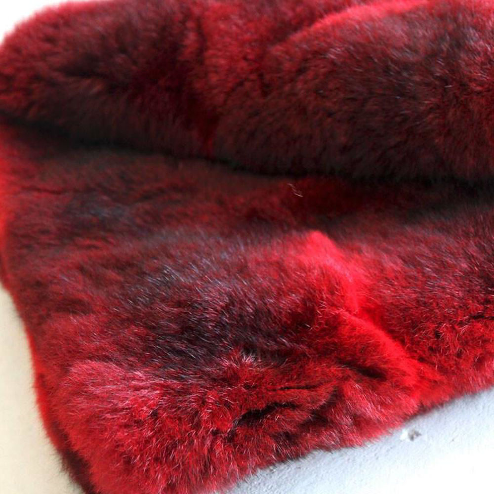 Picture of Possum Fur Throw - Wool Lining (Dyed)