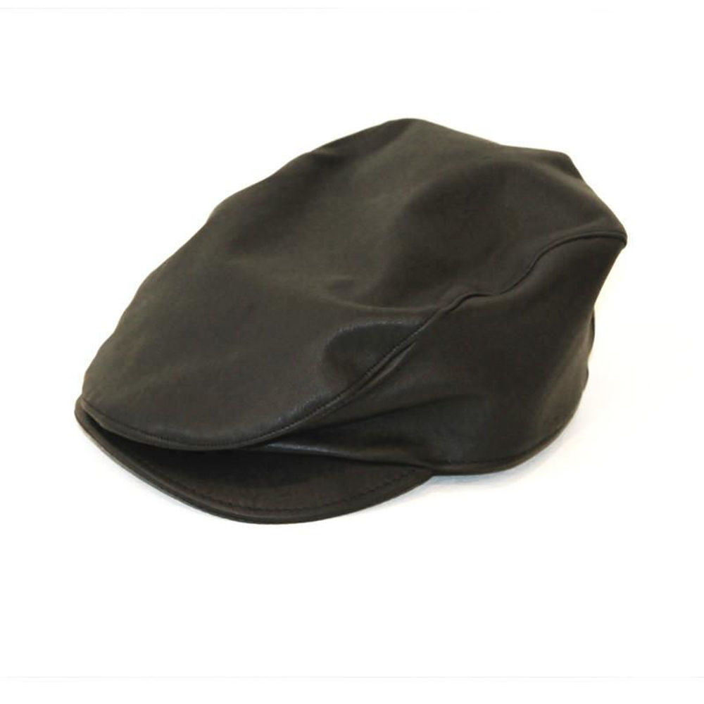 leather cheese cutter hat