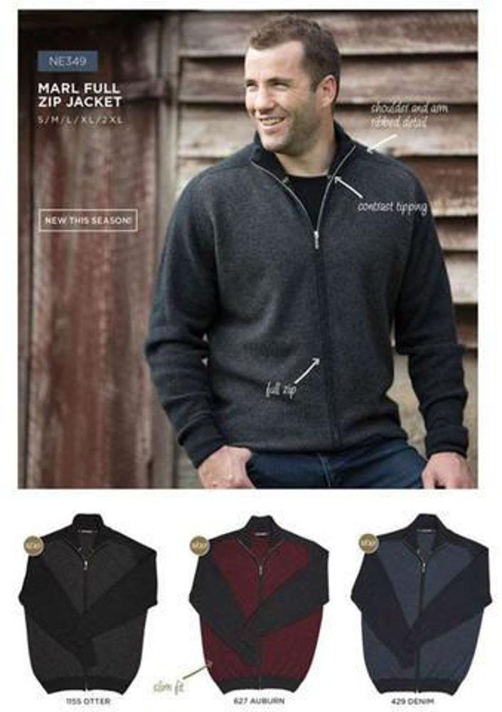 Picture of Marl Full Zip Jacket