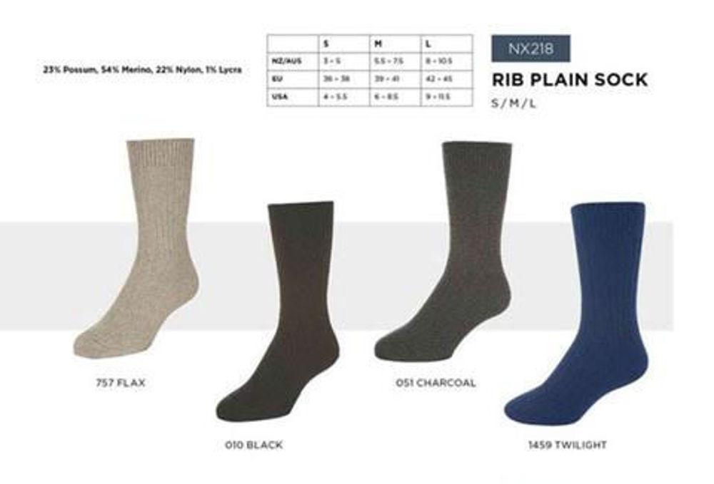 Picture of Rib Plain Socks
