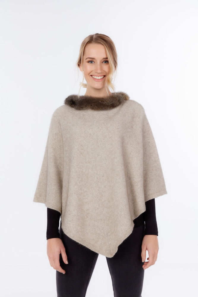 Picture of Pure Possum Trimmed Poncho