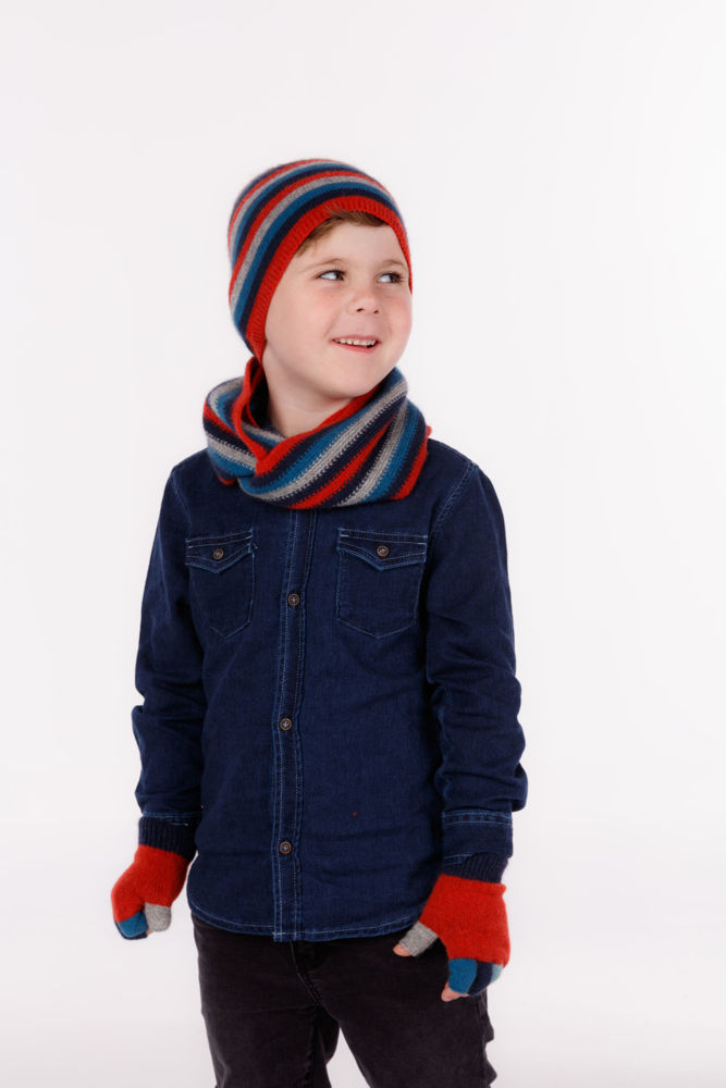 Picture of Childs Striped Loop Scarf