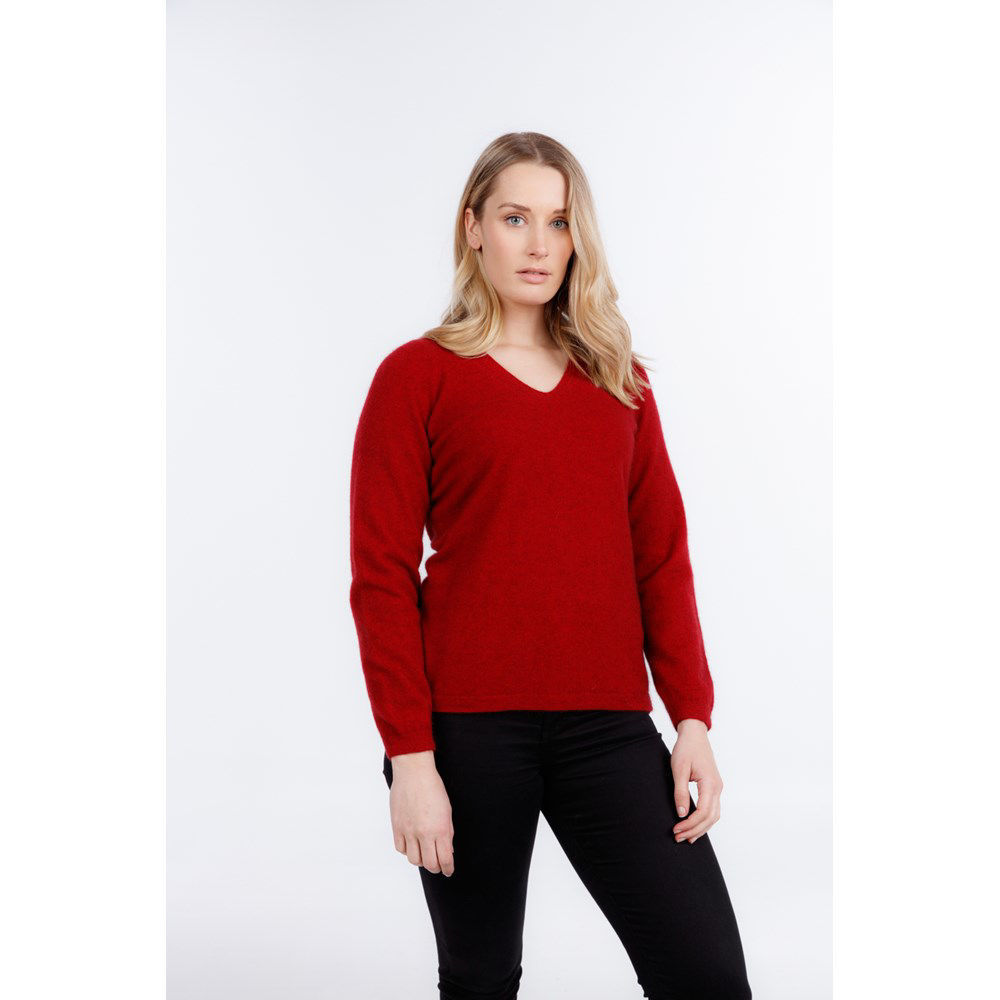 Picture of Vee Neck Plain Sweater
